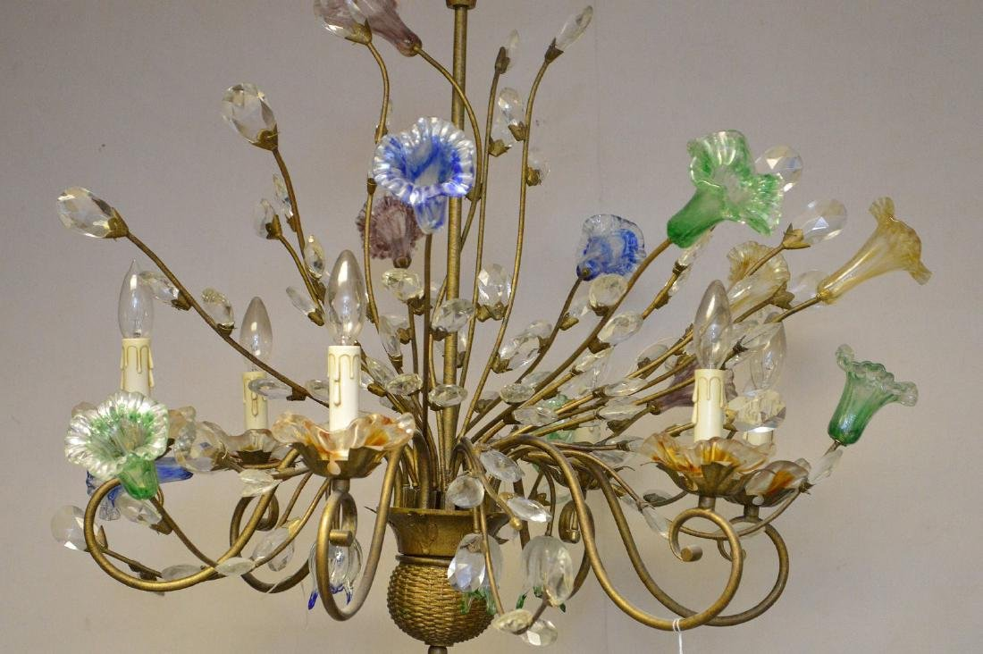 Murano Chandelier circa 1920's. Comprised of 10 Hand - 2
