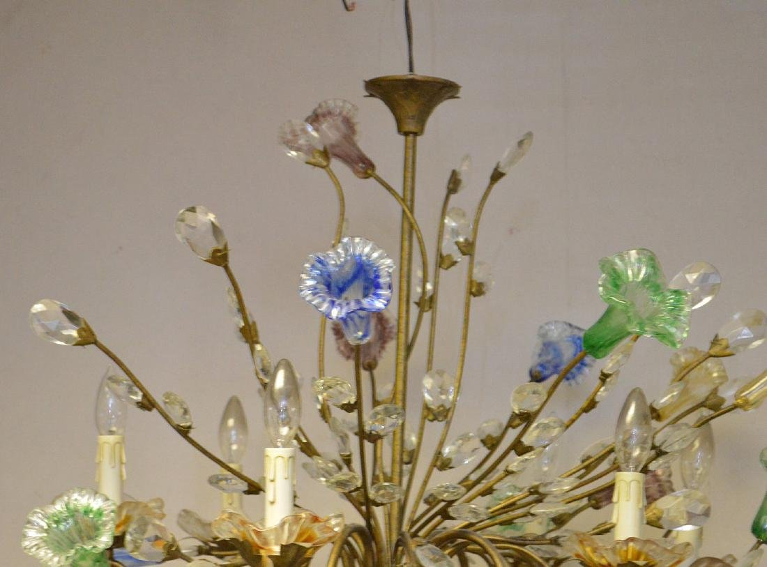 Murano Chandelier circa 1920's. Comprised of 10 Hand - 3