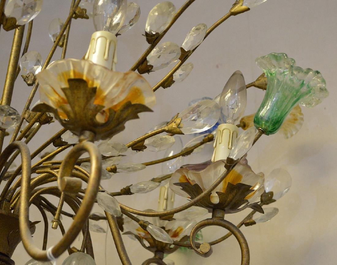 Murano Chandelier circa 1920's. Comprised of 10 Hand - 4