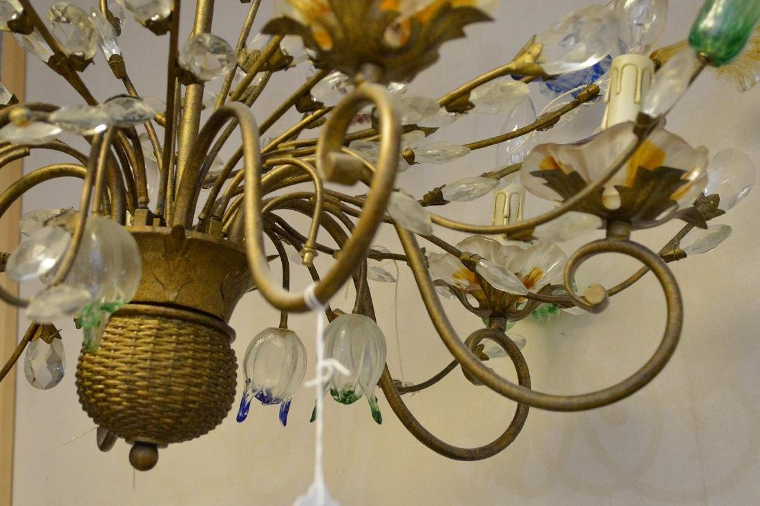 Murano Chandelier circa 1920's. Comprised of 10 Hand - 5