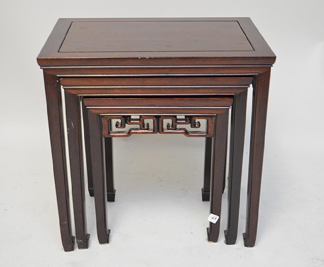 Mahogany nest of Chinese style tables