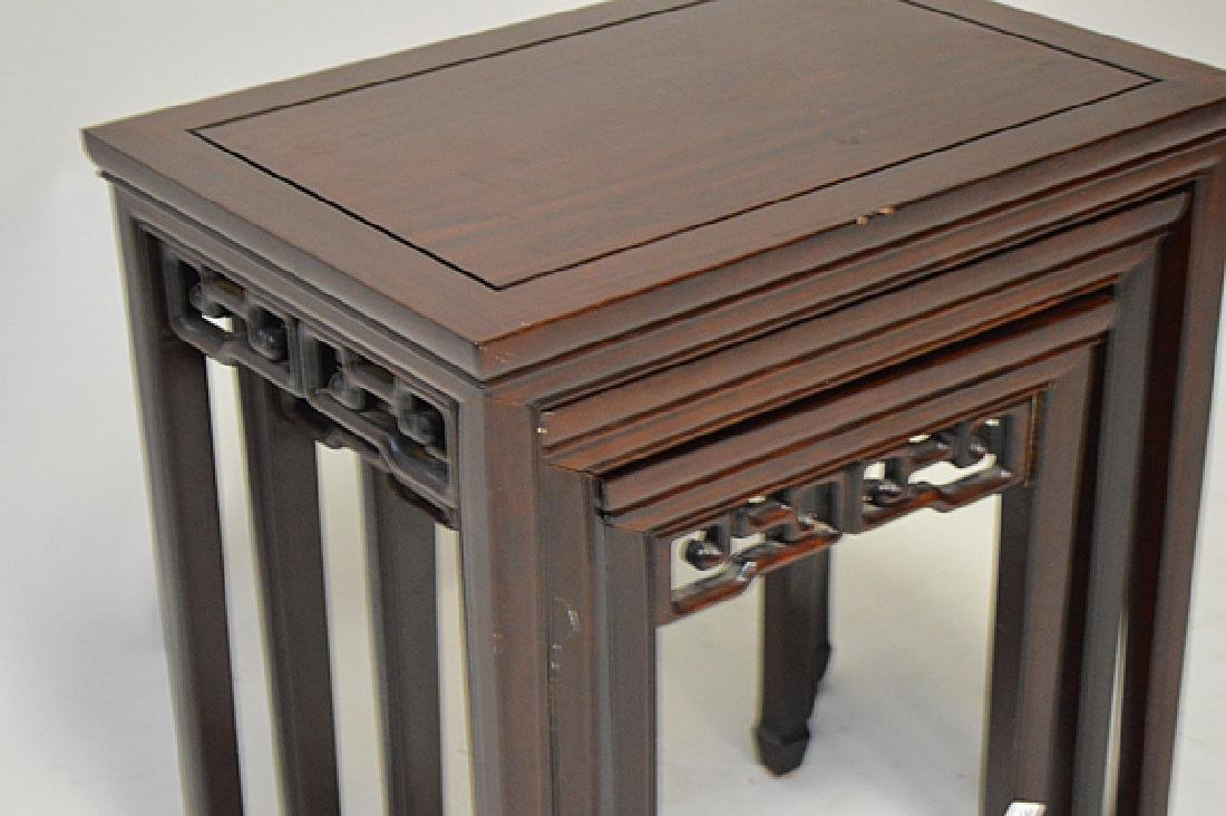 Mahogany nest of Chinese style tables - 2