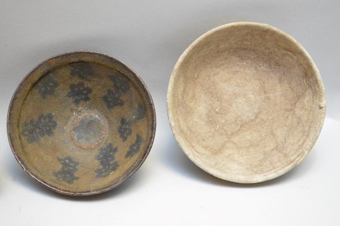 Four Early Asian Ceramic Bowls - Tea bowl with matte - 5