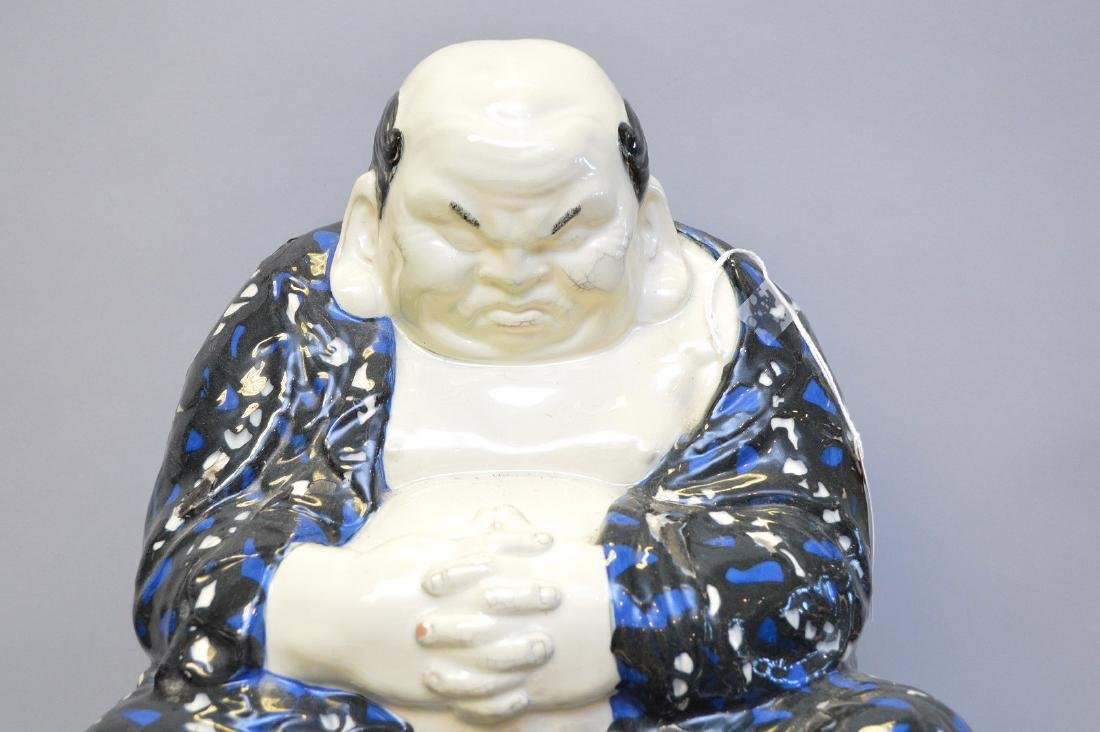 Large Asian Glazed Terracotta Fat Belly Monk/Man/Buddha - 2
