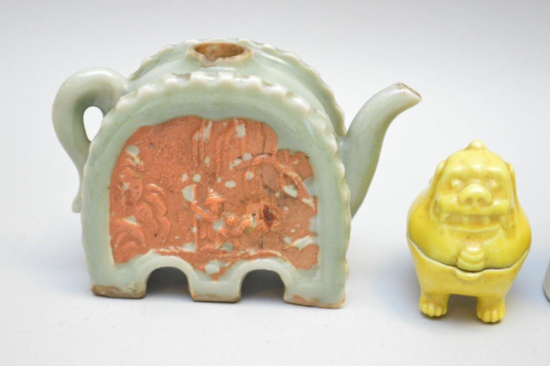 Seven Asian Porcelain Articles. Lot includes three - 3