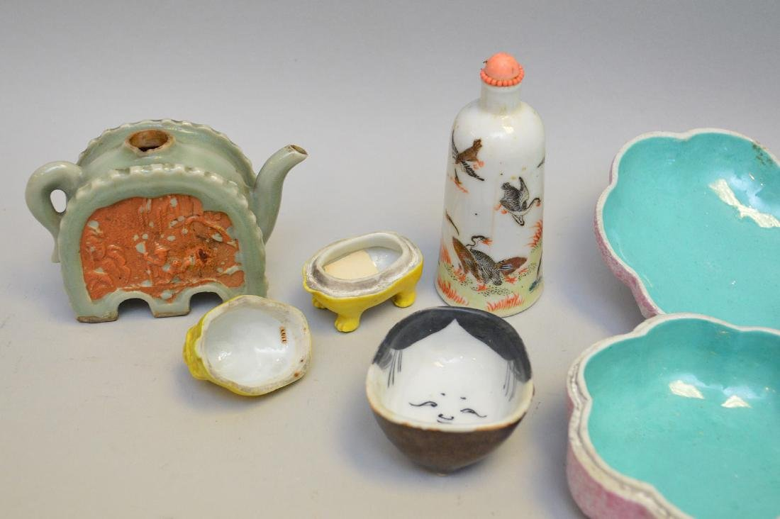 Seven Asian Porcelain Articles. Lot includes three - 4
