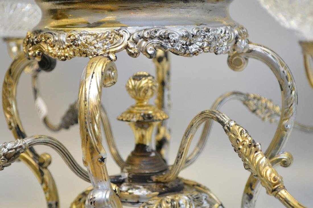 Silver plate large centerpiece (1 bowl as is) - 3