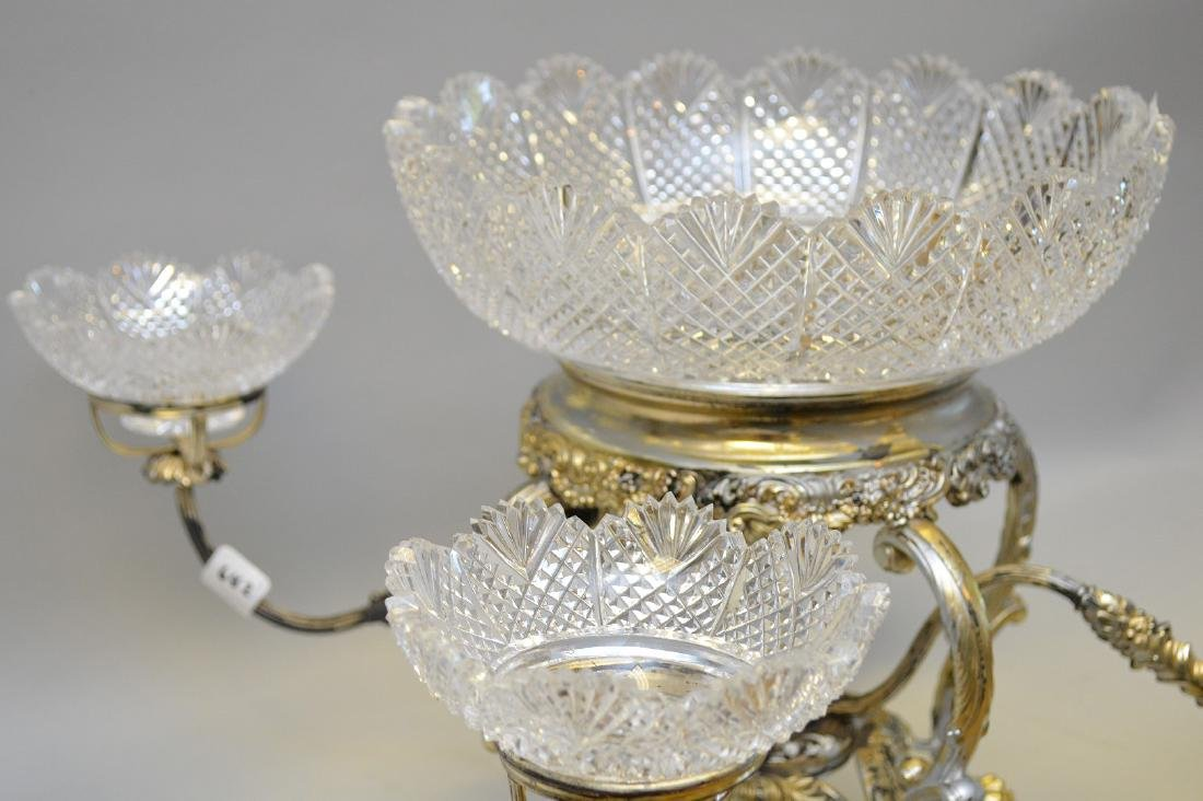 Silver plate large centerpiece (1 bowl as is) - 4