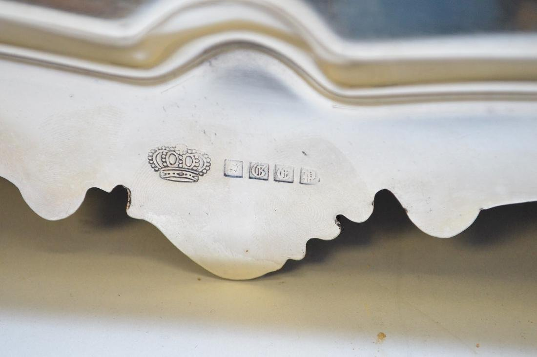 """Silver plate tray, 32"""" x 12"""" - 4"""