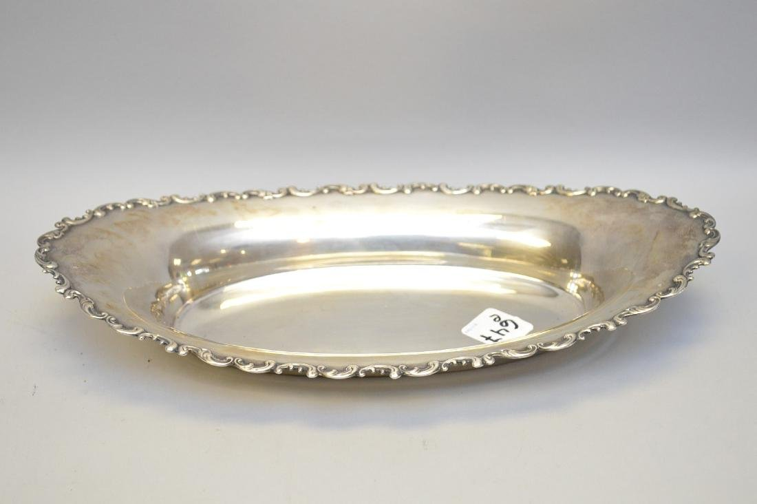 Sterling oval dish, 9ozt, 12""