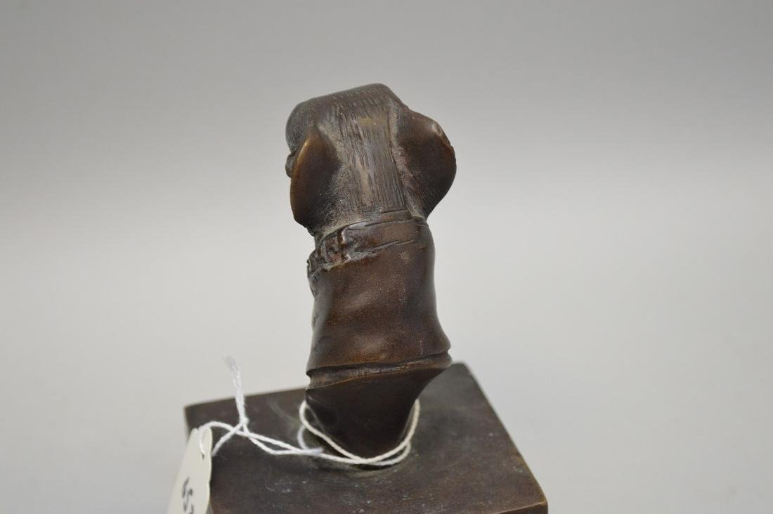 Bronze statue of Whippet, 1930's/40's - 4