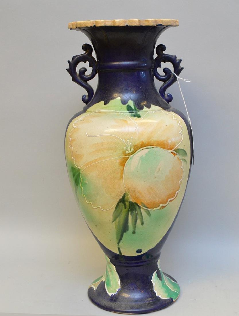 """Satsuma Warrior vase, signed, 17""""h - 5"""