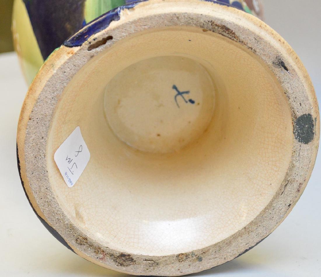 """Satsuma Warrior vase, signed, 17""""h - 6"""