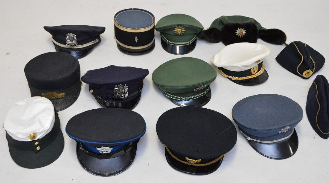 Hat collection, incl;  French armed forces WWII, etc.