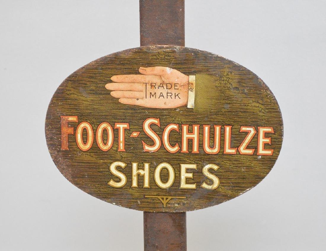 Vintage advertising piece, shoe stand, Schulze, pink - 2