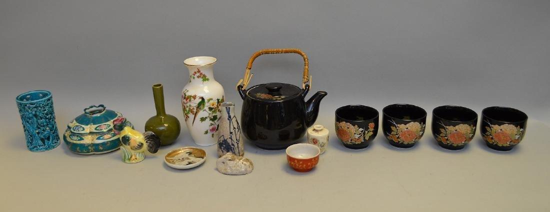 15 Pcs Assorted Asian Ceramic Articles Includes: three