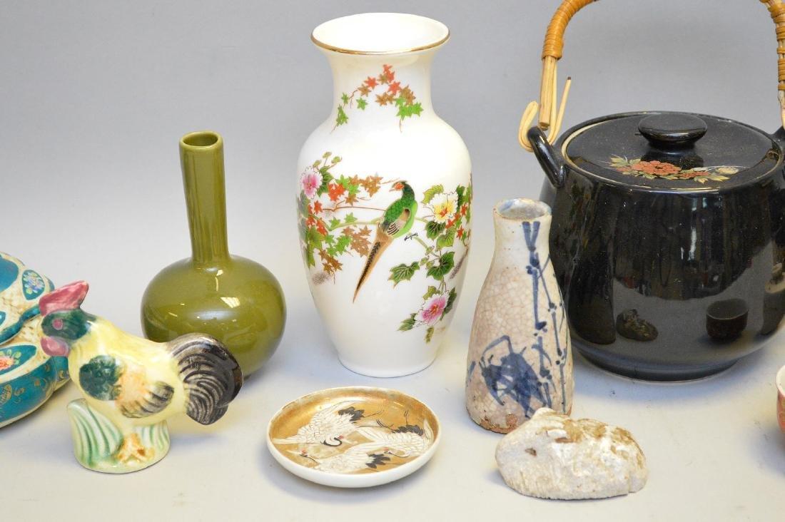 15 Pcs Assorted Asian Ceramic Articles Includes: three - 2