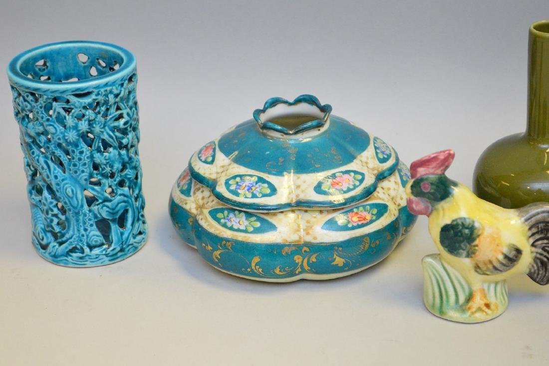 15 Pcs Assorted Asian Ceramic Articles Includes: three - 3