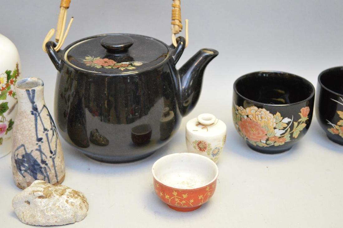 15 Pcs Assorted Asian Ceramic Articles Includes: three - 4