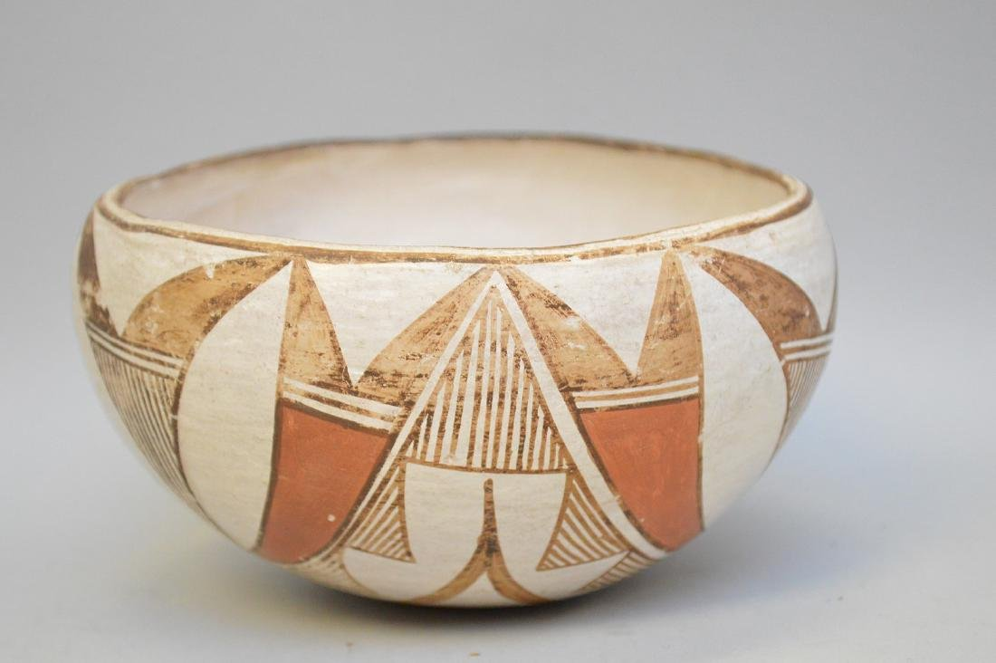 Polychrome Native American Pueblo Pottery Bowl -
