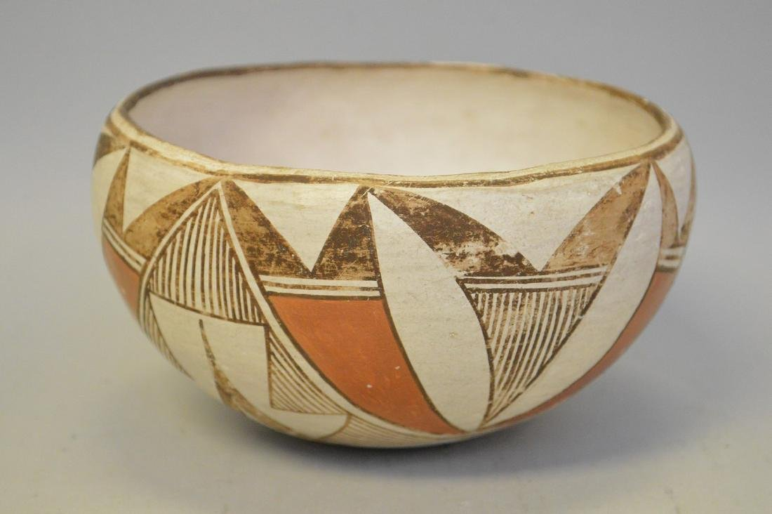 Polychrome Native American Pueblo Pottery Bowl - - 2