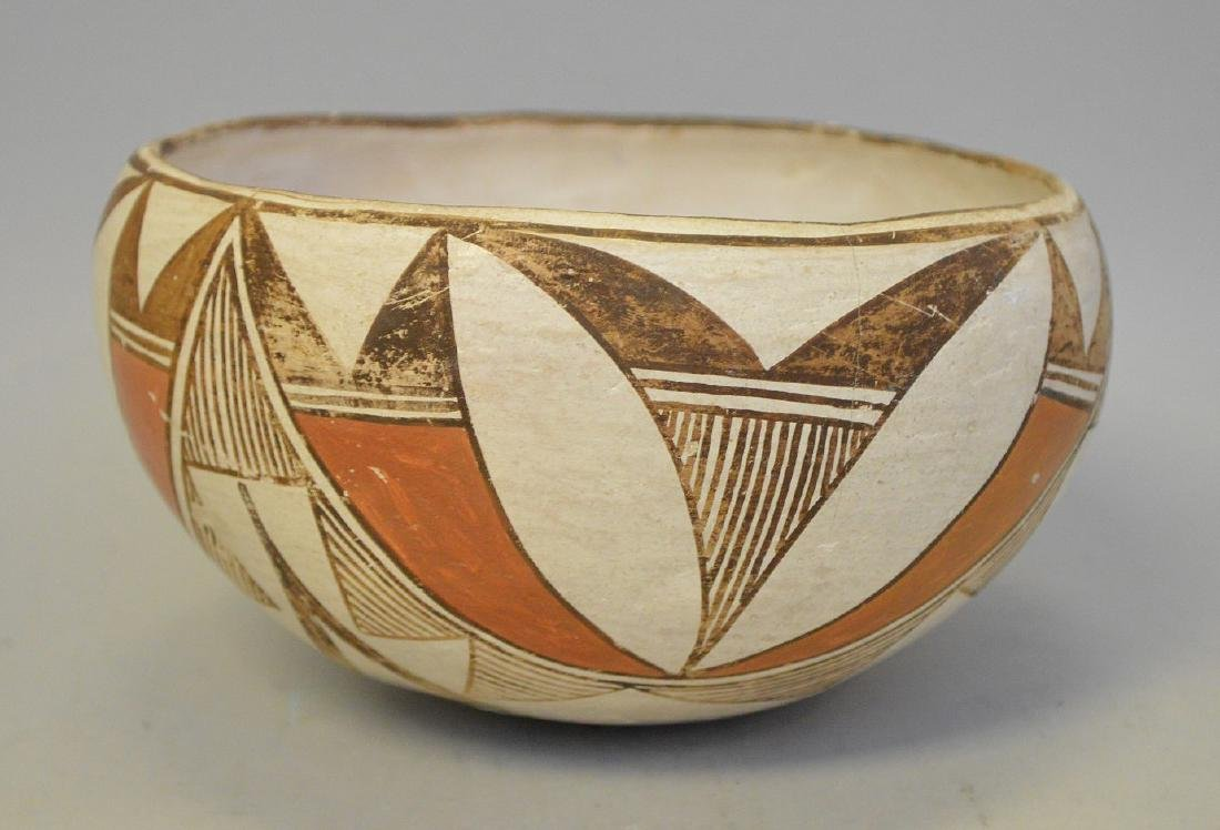 Polychrome Native American Pueblo Pottery Bowl - - 3
