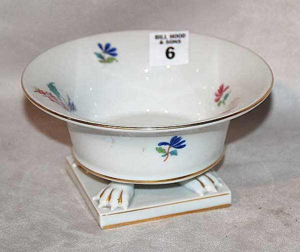 "1006: Herend footed compote on stand, 6"" diam. X 3""h"