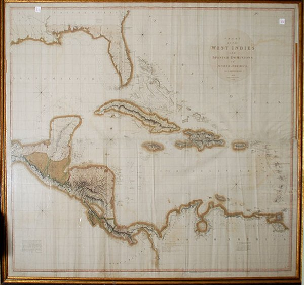 1026: Map, Chart of the West Indies and Spanish Dominio