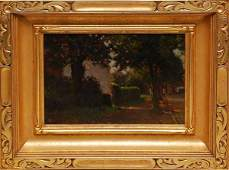1226A: French School painting impressionist cottage J P