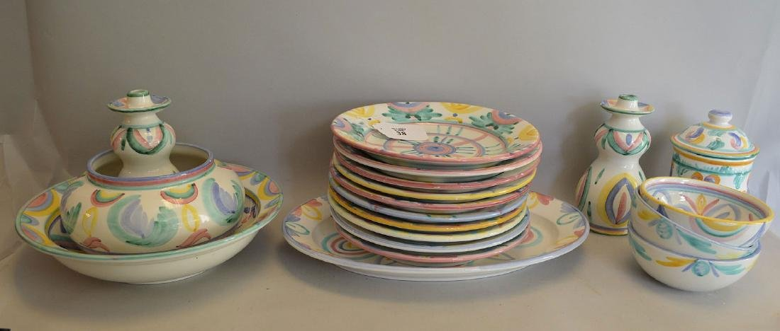Lot of assorted Italian ceramic plates & bowls,
