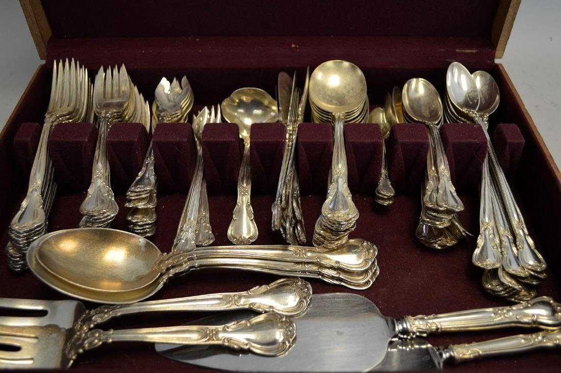 Gorham sterling flatware set, Chantilly pattern, incl;