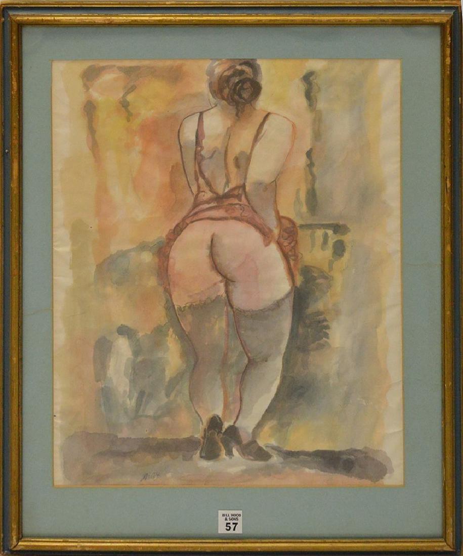 George Grosz (AMERICAN/GERMAN, 1893-1959) Watercolor on