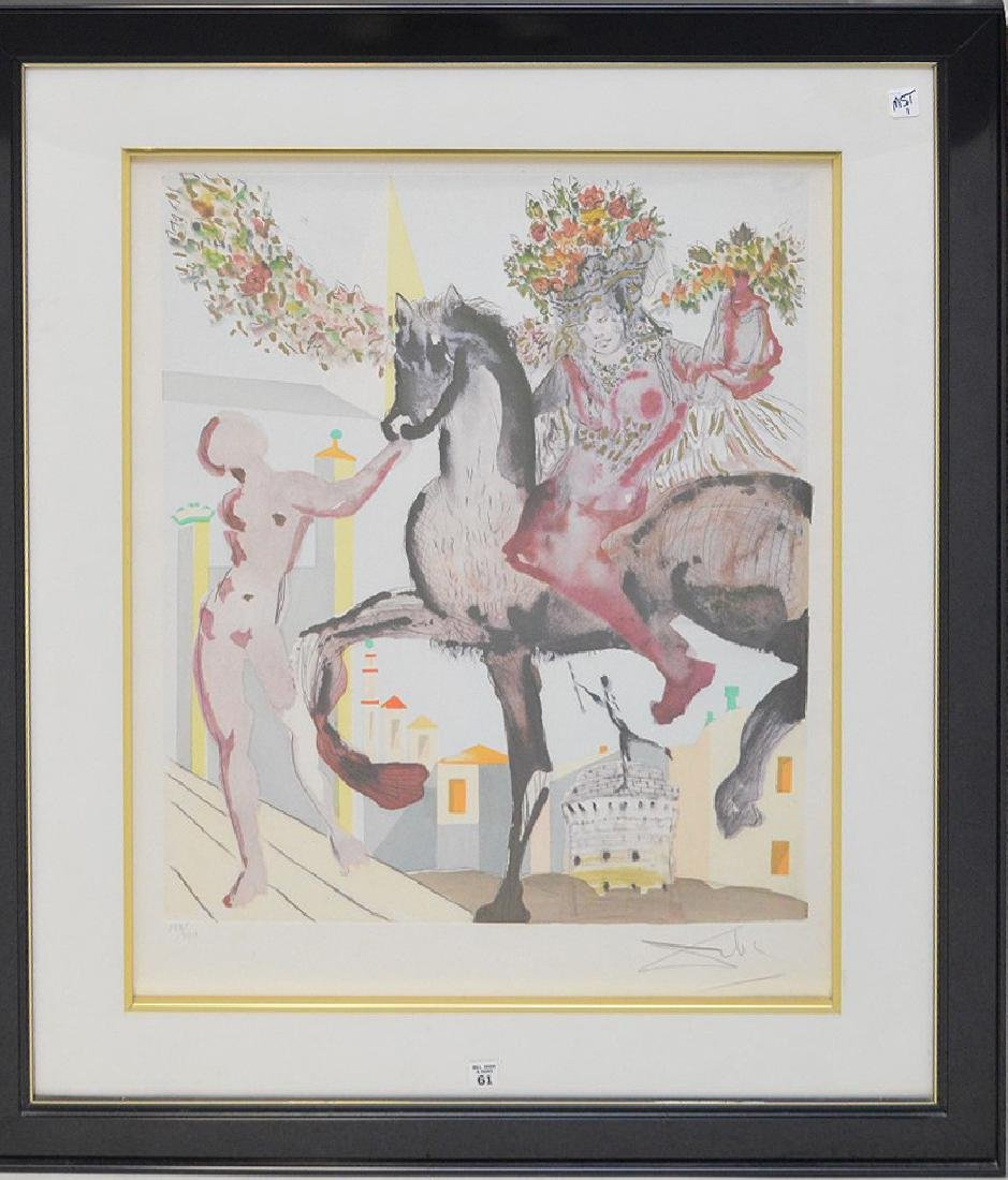 Salvador Dalí (SPANISH, 1904–1989) Etching w/ gold