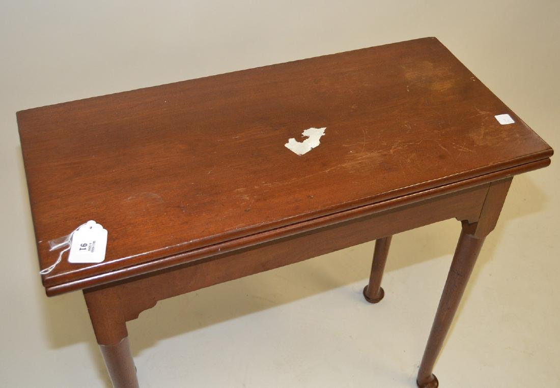 """Queen Anne flip top table with swing leg, 29""""h x 31""""w x"""