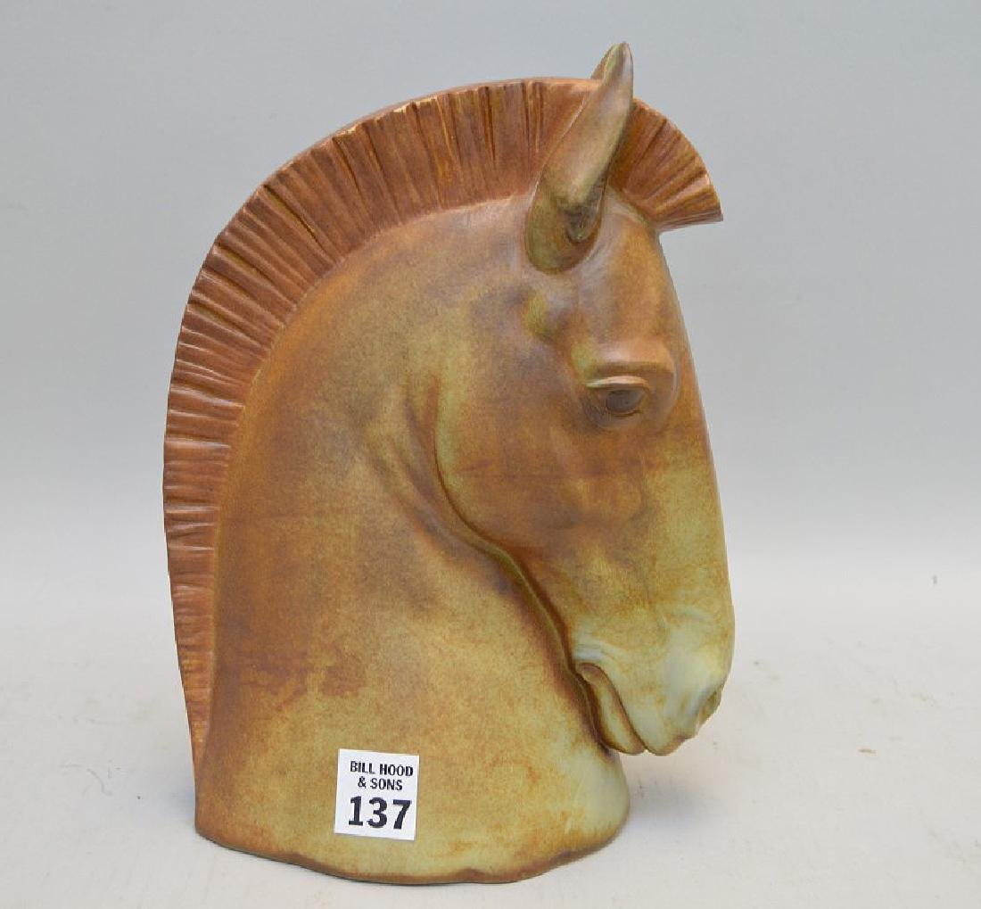 Lladro Porcelain Horse Bust.  Condition: good with no