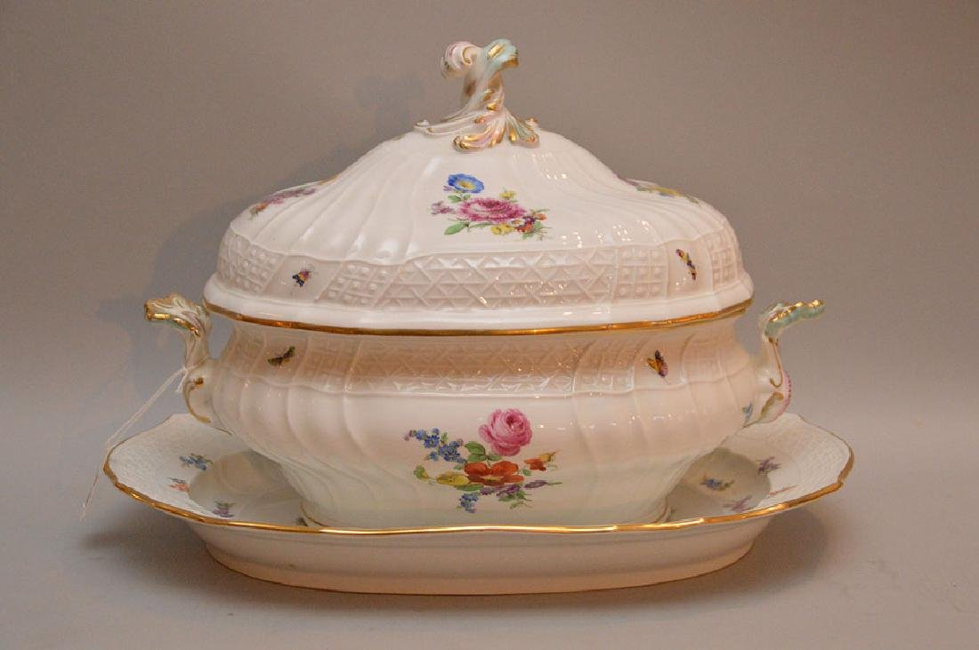 "Meissen Soup Tureen with lid (11""h x 15""w)  and"