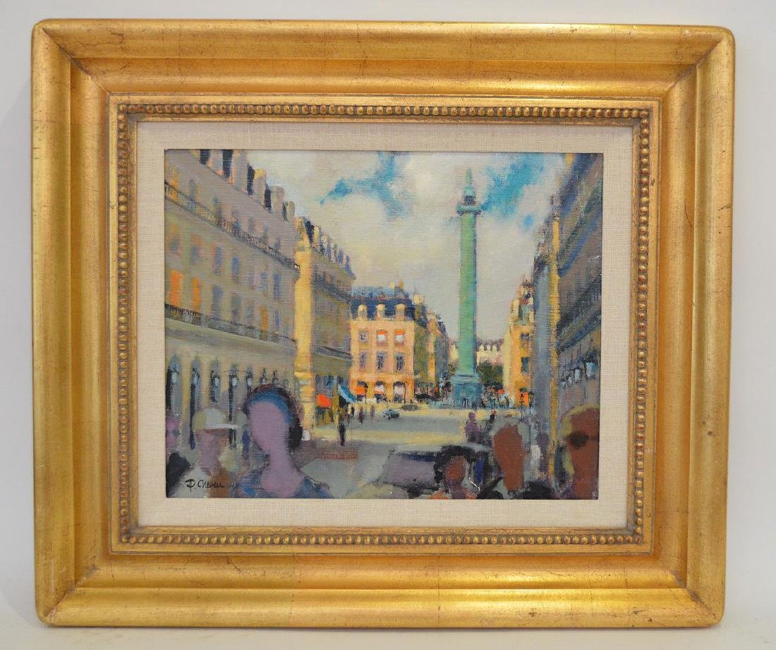 P. Chevres (French 20th Century) oil on canvas, French