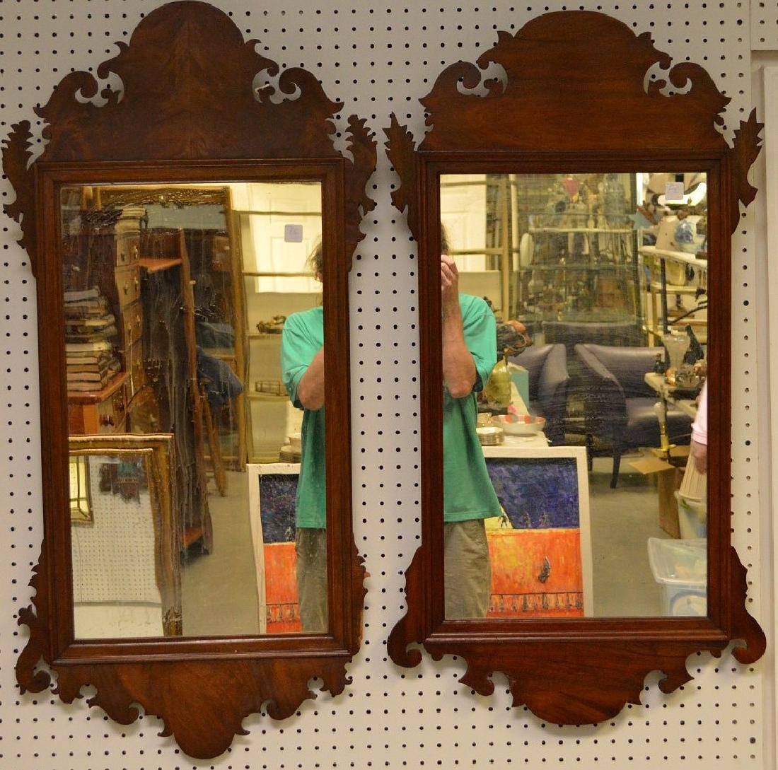 2 Chippendale 19th Century Mirrors (one has small