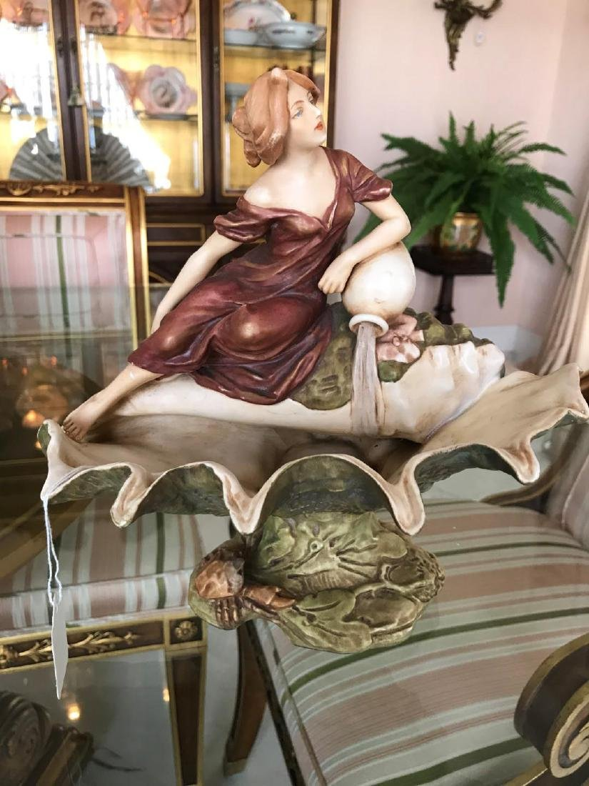 Royal Dux Porcelain Art Nouveau Figural Group,