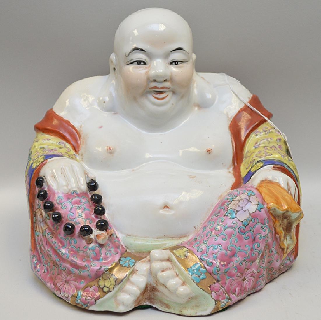 Chinese Porcelain Ho Tai Buddha Hand-painted Polychrome