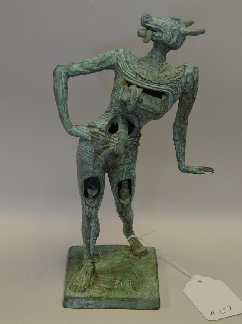 Salvador Dali Patinated Bronze Sculpture, le minotaure,