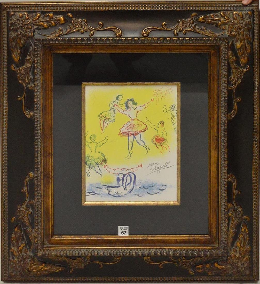 Hand signed Marc Chagall Sketch for Giselle