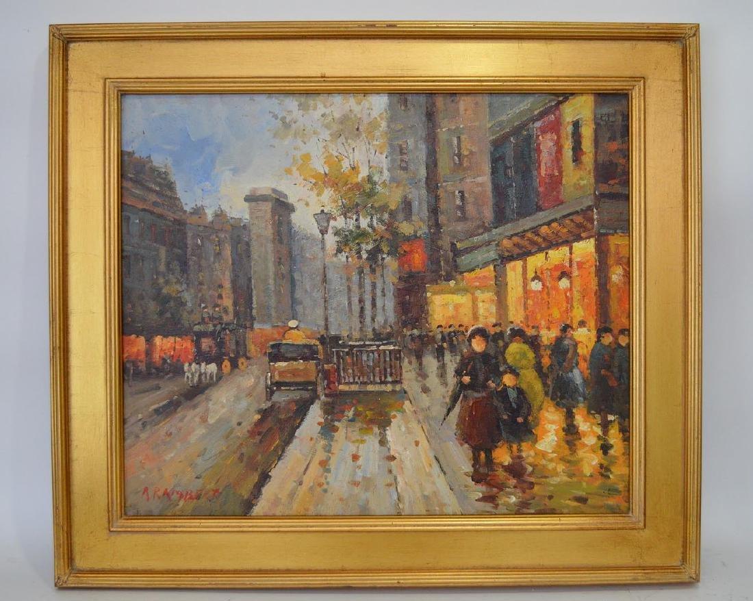 Rene Rambert (French, 1901-1991) oil on board, Paris
