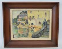 Colin Campbell Cooper AMERICAN 18561937 canal scene