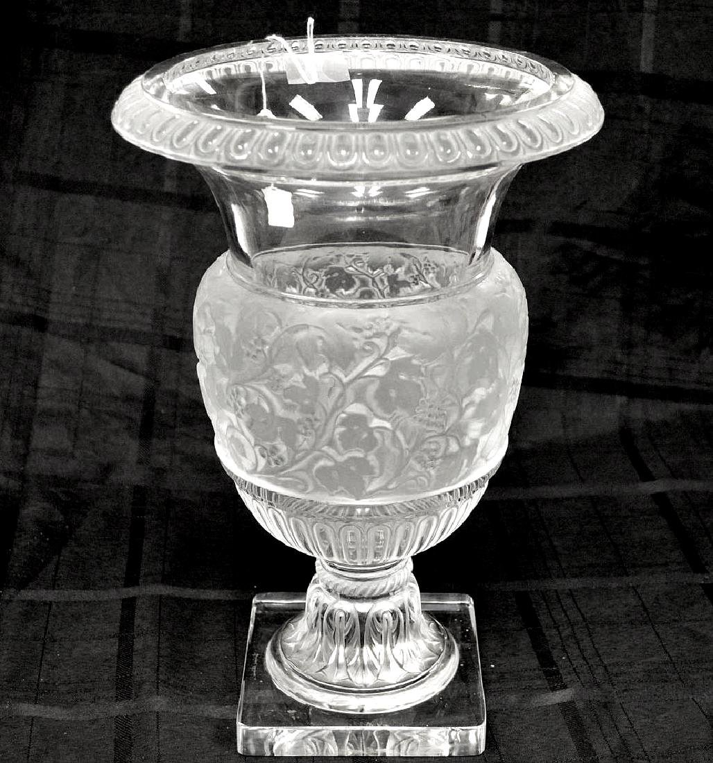 Lalique Crystal Versailles Vase.  Condition: good with