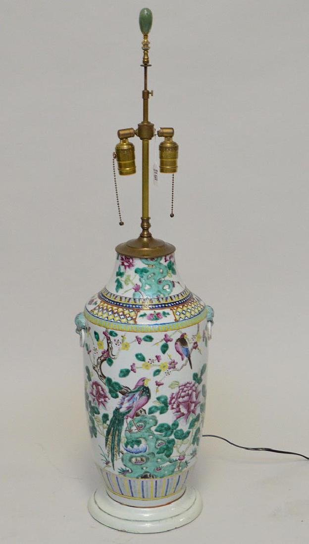 Antique Chinese Porcelain Vase now electrified and