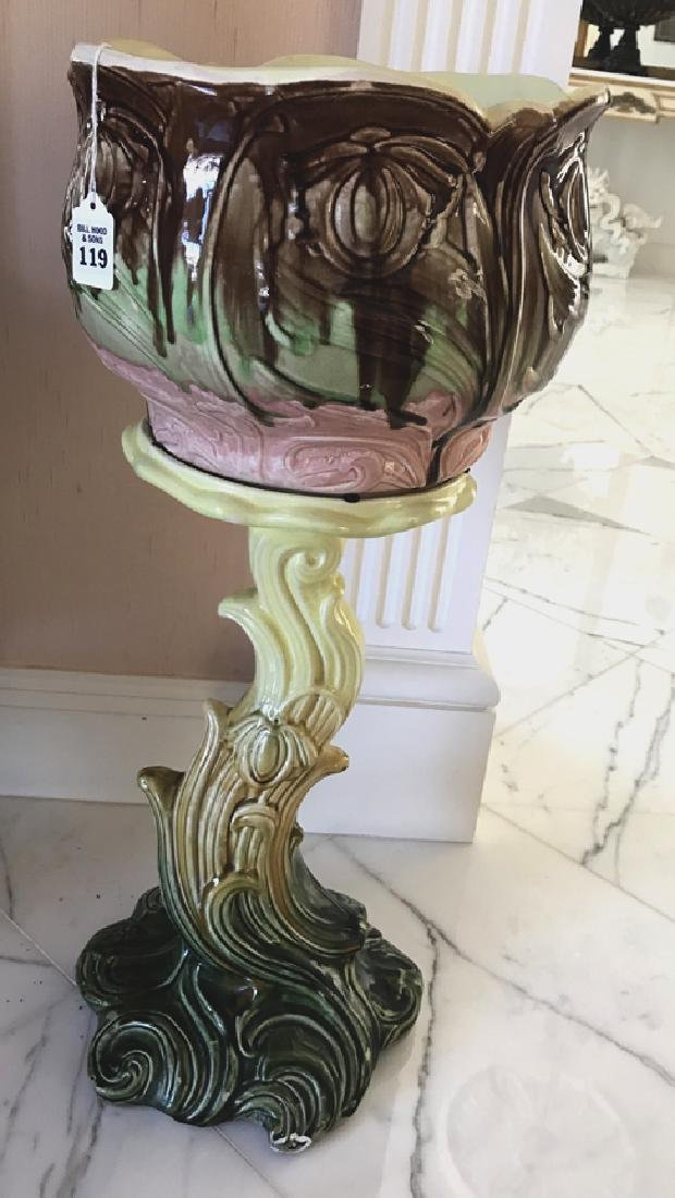 French Majolica Jardinière Circa 1900 - Interesting