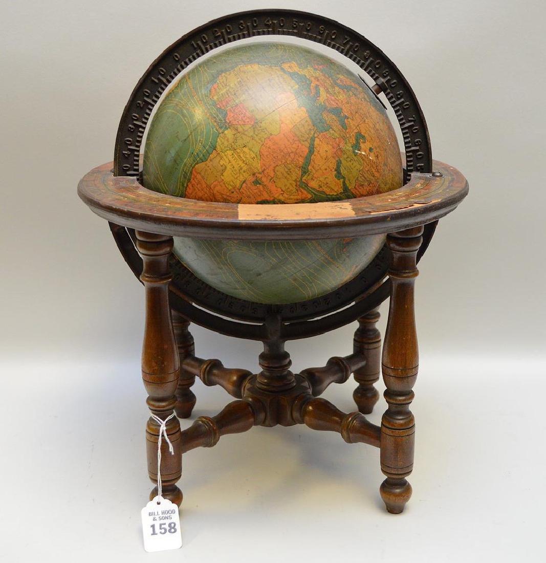 Antique Table Top Terrestrial Globe Kittinger Co 1893 -