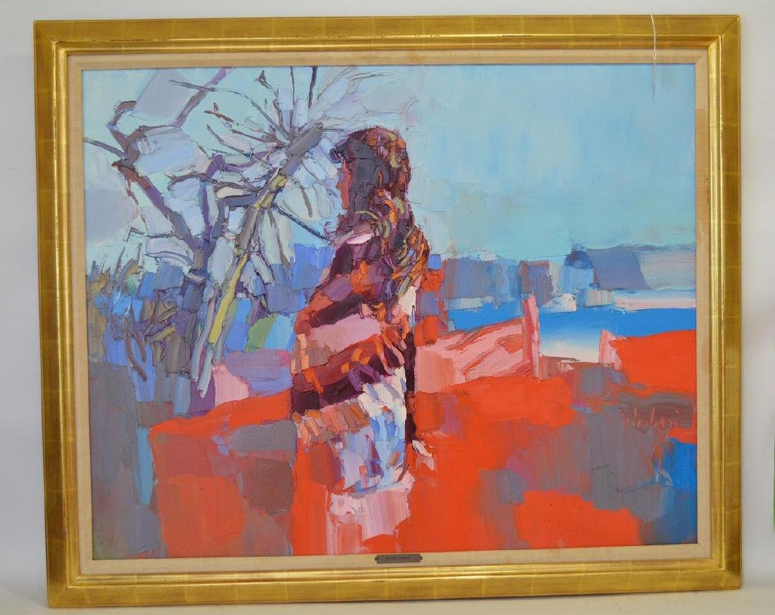 Nicola Simbari (Italian 1927-2012), Oil on Canvas,