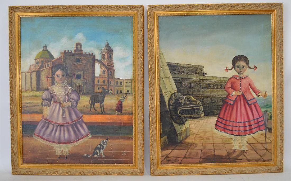 2 Paintings by:  Agapito Labios (MEXICAN, 1898–1996)